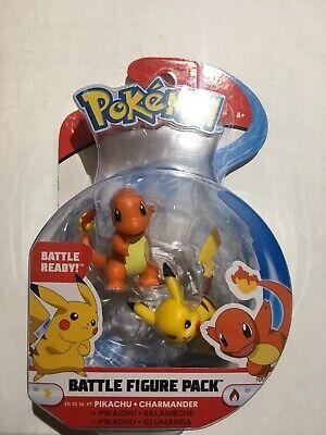 Pokemon Battle Figure Pack Pikachu + Charmander Mini Figures New