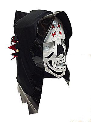 SKELETOR (pro-fit) Adult Lucha Libre Halloween Costume Mask - Black