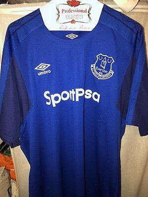 Mens Football Soccer Sz XXL Umbro Everton 2017/18 Home Jersey UUM177558U image