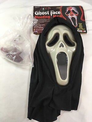 Scream Mask With Blood & Pump by Fun World Ghost face bleeding mask