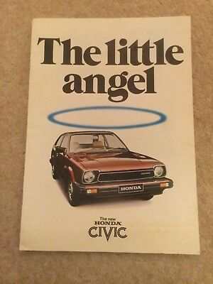 HONDA CIVIC orig 1980 UK Mkt Sales Brochure