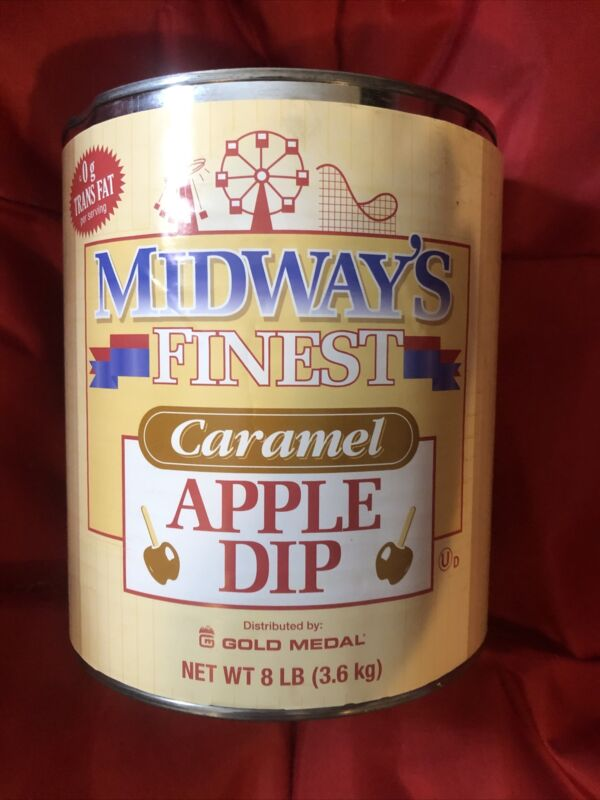 Midway's Finest Caramel Candy Apple Dip 8 lb Bulk Can 3.6kg Gold Medal Products