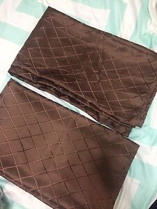 Brown curtain panels