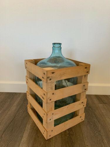 Vintage Bastanchury Water Carboy 5 Gallon Glass Jug & Crate #2