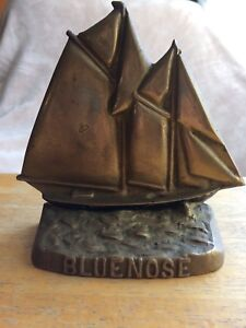 Brass Lunenburg Foundry Bluenose - rare