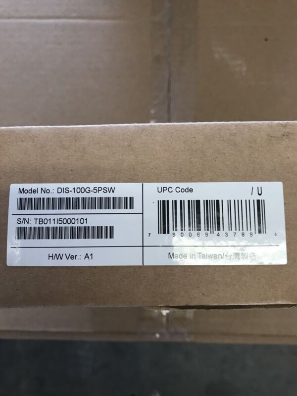 D-Link DIS-100G-5PSW Networking 5Port UNMNGD Industrial Switch -40C to +75C PoE