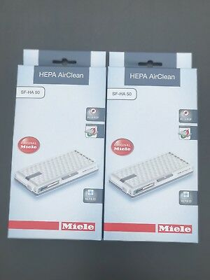 Original Miele HEPA Filters SF-HA 50 Models S4 S5 S6 S8 Vacuum Cleaner. Qty. 2 Miele Vacuum Filters