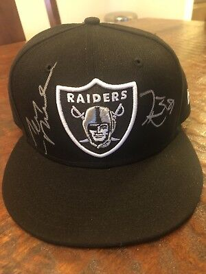 Tim Brown Jerry Rice Signed Oakland Raiders Hat Proof Coa Football Autographed