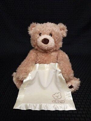 "Gund Peek-A-Boo Bear Teddy Bear Plays Hide And Seek Stuffed Talking Plush 11"""