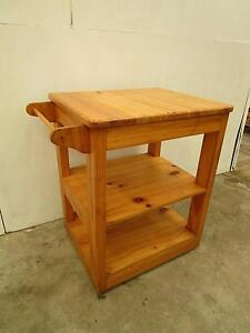 D3008 Solid Pine Kitchen Island Bench Table Trolley Unley Unley Area Preview