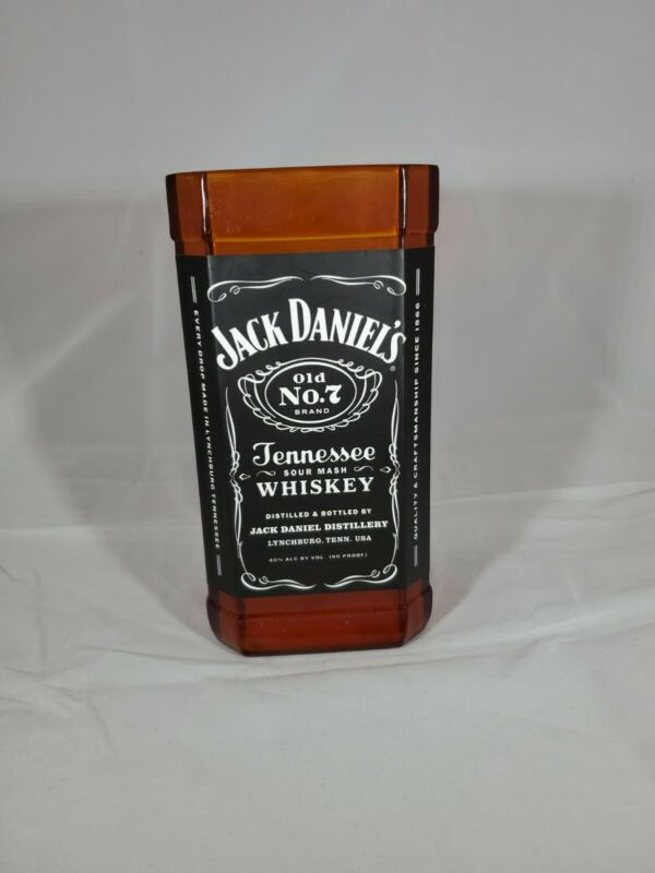 Jack Daniel's Old No.7 Tennessee Whiskey Sour Mash Acrylic Tip Jar Great Cond