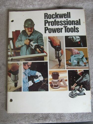 Vintage 1980 Rockwell Professional Power Tools AD-3700 4/80 10Y (68)