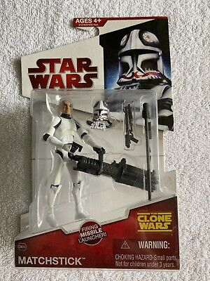 Star Wars The Clone Wars CW34 Matchstick Clone Trooper Hasbro 2009
