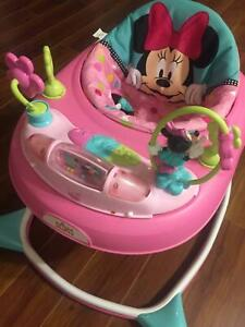 Almost new Baby walker, Pram and Cot $100 only