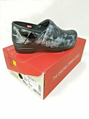 Sanita Clog Smart Step Professional Piper Black and Grey #20