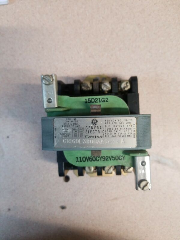 GE CR160L3800AA Series A Lighting Contactor 120v coilV 60Hz