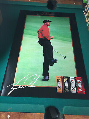 """Tiger Woods Titleist Poster 1997 Masters Augusta National 24"""" x 36"""" PGA Rare"""