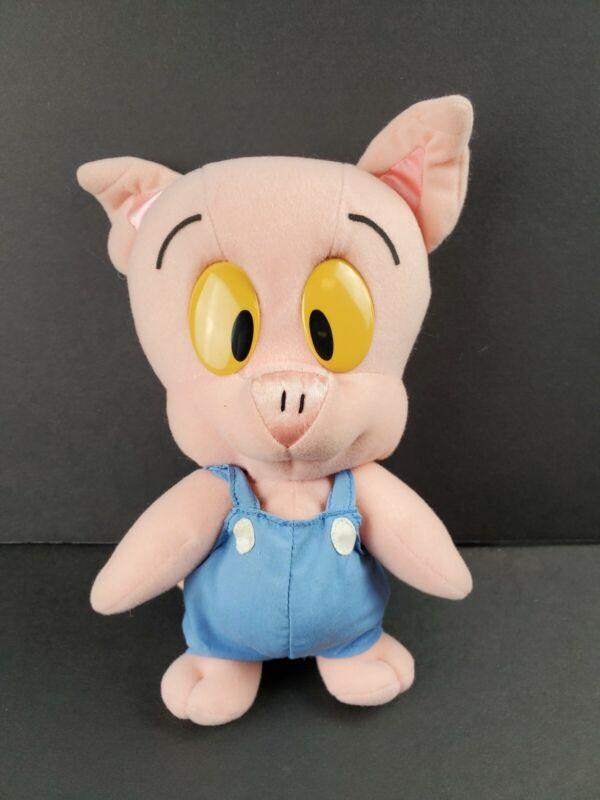 """Vintage Tiny Toon Adventures Hamton J Pig Stuffed Plush 10"""" Playskool 1990"""