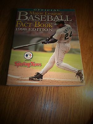 1998 EDITION OFFICIAL MAJOR LEAGUE BASEBALL FACT BOOK THE SPORTING NEWS GRIFFEY