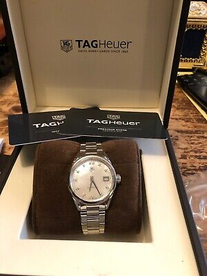 Tag Heuer Carrera Watch (White Mother of Pearl Women's Watch with 13 Diamonds)