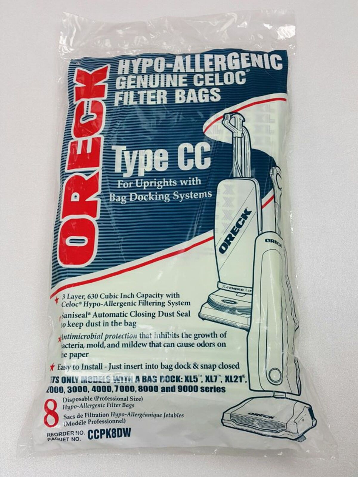 pack of 8 xl type cc vacuum