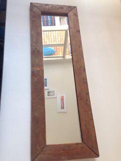 Wood mirror  Bondi Beach Eastern Suburbs Preview