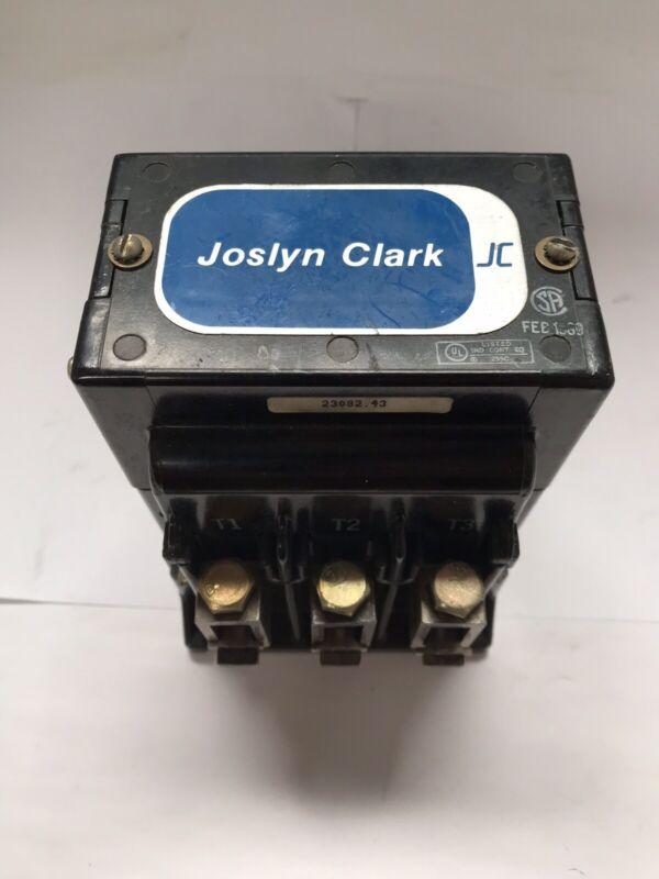 Joslyn Clark Size 3 Contactor 5003A3001-11 , 3PH 230/460/575 3 Pole