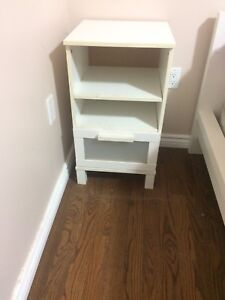 Queen bed frame with end tables