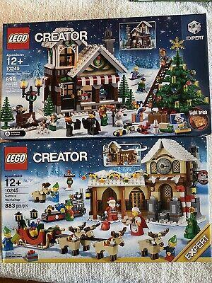 LEGO Creator 10245 Santa's Workshop10249 Winter Toy Shop Both New In Sealed Box
