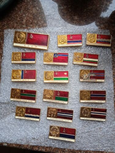 USSR.Full set of USSR republic badges.