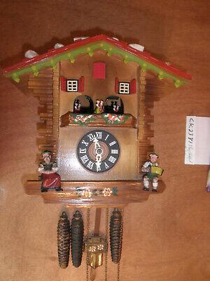 Cuckoo Clock Black Forest Scnmeckenbecher SEE VIDEO Musical Chalet 1 Day CK2381 Black Forest Chalet Cuckoo Clock