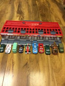 Disney Cars 2 World Grand Prix Race Launcher, Storage & Carry Case + 10 Vehicles
