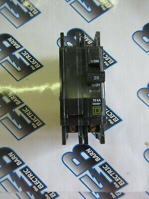 Square D Qou220 20 Amp 240 Volt 2 Pole Series 3 Circuit Breaker- New