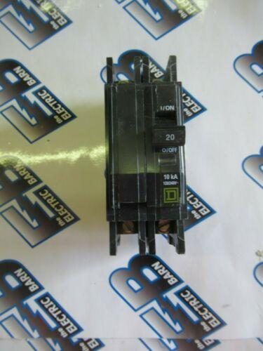 Square D QOU220, 20 Amp, 240 Volt, 2 Pole, SERIES 3, Circuit Breaker- NEW