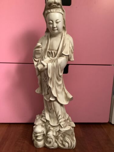 """Guanyin Chinese Goddess of Mercy/Compassion  Sculpture 23"""" Tall"""