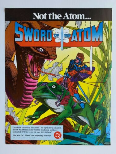 1983 SWORD OF THE ATOM Comic Book Shop PROMOTIONAL POSTER 8 X 11 Gil Kane
