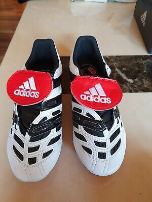 Adidas Predator Accelerator FG/AG - White/Black/Red Limited Ed. Remake