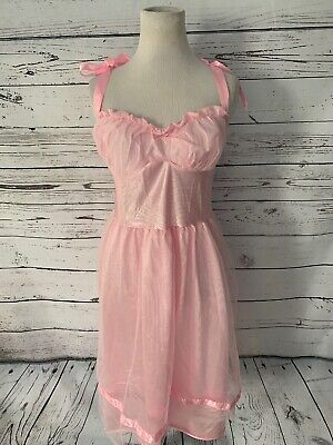 California Costumes Pink Fairy Princess Dress Sz M 50's Prom Queen Gown 50s Prom Queen