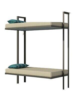 Folding Bunk Bed Plans DIY Bedroom Furniture Kids Adult Children Build Your Own