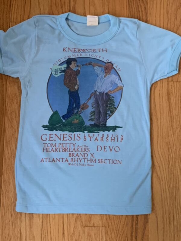 1978 Vintage Concert Shirt Knebworth Genesis Tom Petty Devo Brand X
