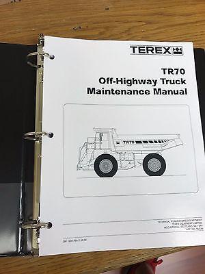 Terex Tr70 Off-highway Truck Shop Maintenance Manual