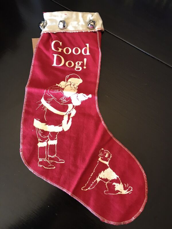 Primitives By Kathy Good Dog Vintage Style Christmas Stocking
