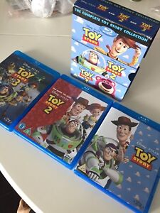 1, 2, 3 Toy Story complete set (Blu Ray)