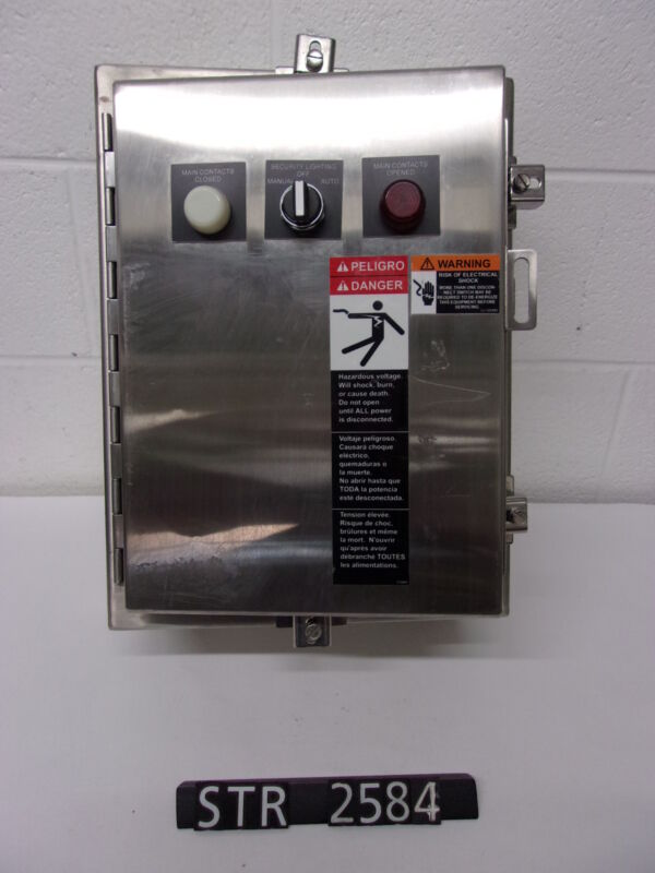 ASCO Lighting Contactor In SS Enclosure 30A 12P (STR2584)