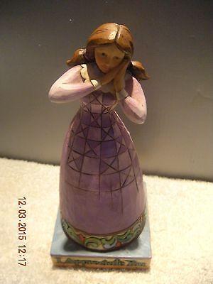 Jim Shore   Heartwood Creek   I Appreciate You  Girl Appreciate Figurine