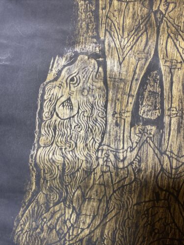 X Large Brass Rubbing 33 X 15 Of Sir Henry Rochford In Armour War Of Roses 1975 - $75.00