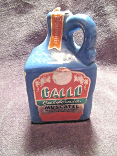Gallo Blue California Muscatel Miniature Jug 2 Fl Oz Empty CA