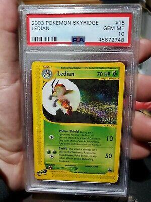 Pokemon Skyridge Ledian PSA 10 GEM MINT NON-HOLO CARD #15