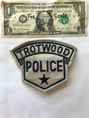 Trotwood Ohio Police Patch un-sewn in great shape
