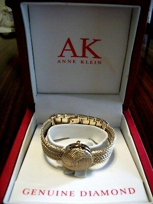 ANNE KLEIN Hidden Dial Bracelet watch  DIAMOND accent - box/papers  Mothers Day